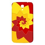 Flower Blossom Spiral Design  Red Yellow Samsung Galaxy Mega I9200 Hardshell Back Case Front