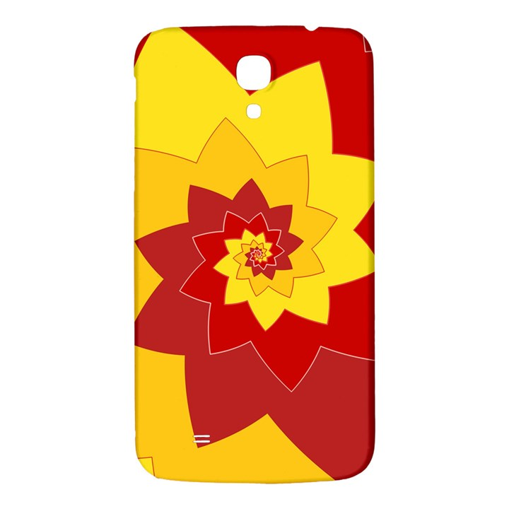 Flower Blossom Spiral Design  Red Yellow Samsung Galaxy Mega I9200 Hardshell Back Case