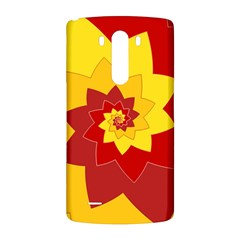 Flower Blossom Spiral Design  Red Yellow LG G3 Back Case