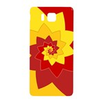 Flower Blossom Spiral Design  Red Yellow Samsung Galaxy Alpha Hardshell Back Case Front
