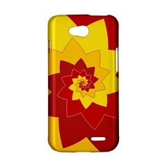 Flower Blossom Spiral Design  Red Yellow LG L90 D410