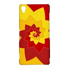 Flower Blossom Spiral Design  Red Yellow Sony Xperia Z3