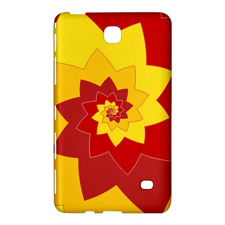 Flower Blossom Spiral Design  Red Yellow Samsung Galaxy Tab 4 (7 ) Hardshell Case