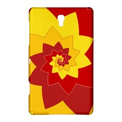 Flower Blossom Spiral Design  Red Yellow Samsung Galaxy Tab S (8 4 ) Hardshell Case