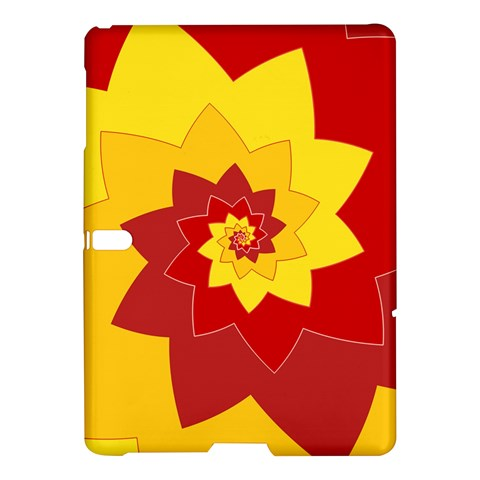 Flower Blossom Spiral Design  Red Yellow Samsung Galaxy Tab S (10.5 ) Hardshell Case