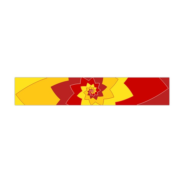Flower Blossom Spiral Design  Red Yellow Flano Scarf (Mini)