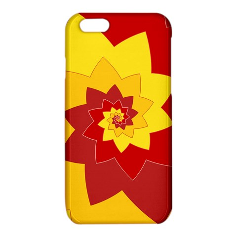 Flower Blossom Spiral Design  Red Yellow iPhone 6/6S TPU Case