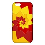 Flower Blossom Spiral Design  Red Yellow iPhone 6/6S TPU Case Front