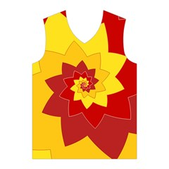 Flower Blossom Spiral Design  Red Yellow Men s Basketball Tank Top