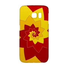 Flower Blossom Spiral Design  Red Yellow Galaxy S6 Edge