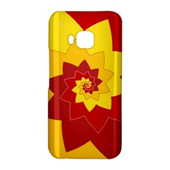 Flower Blossom Spiral Design  Red Yellow HTC One M9 Hardshell Case