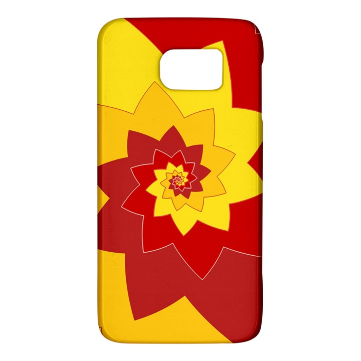 Flower Blossom Spiral Design  Red Yellow Galaxy S6
