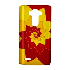 Flower Blossom Spiral Design  Red Yellow Lg G4 Hardshell Case