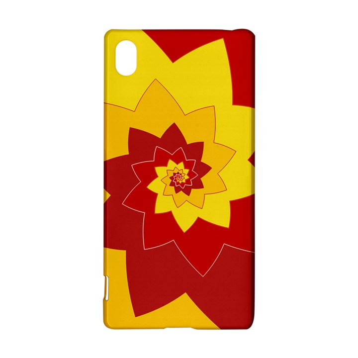 Flower Blossom Spiral Design  Red Yellow Sony Xperia Z3+