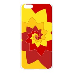 Flower Blossom Spiral Design  Red Yellow Apple Seamless iPhone 6 Plus/6S Plus Case (Transparent)