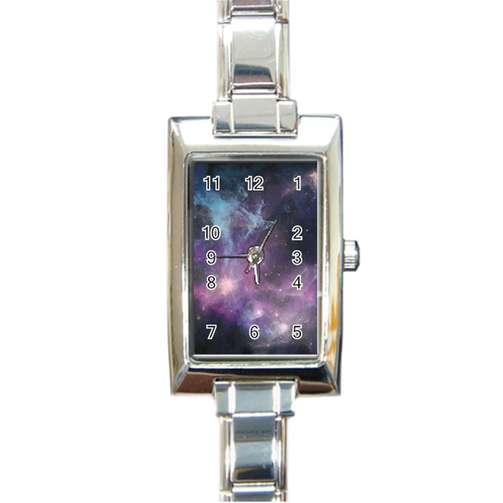 Blue Galaxy  Rectangle Italian Charm Watch