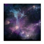 Blue Galaxy  Tile Coasters Front