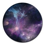 Blue Galaxy  Round Mousepads Front