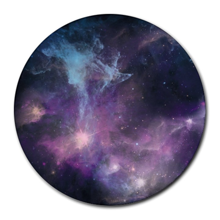 Blue Galaxy  Round Mousepads