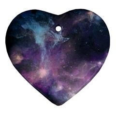 Blue Galaxy  Ornament (Heart)