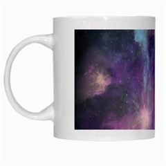 Blue Galaxy  White Mugs