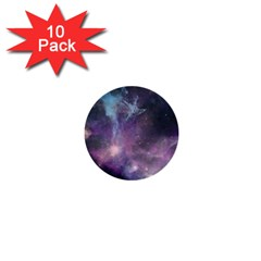 Blue Galaxy  1  Mini Buttons (10 Pack)