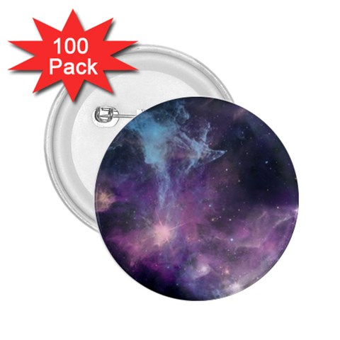 Blue Galaxy  2.25  Buttons (100 pack)