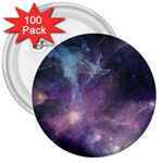 Blue Galaxy  3  Buttons (100 pack)  Front