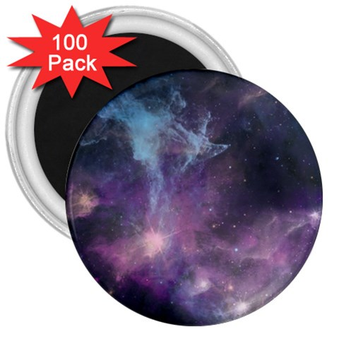 Blue Galaxy  3  Magnets (100 pack)