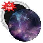 Blue Galaxy  3  Magnets (100 pack) Front