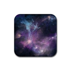 Blue Galaxy  Rubber Coaster (square)