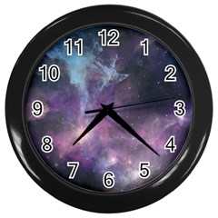 Blue Galaxy  Wall Clocks (black)