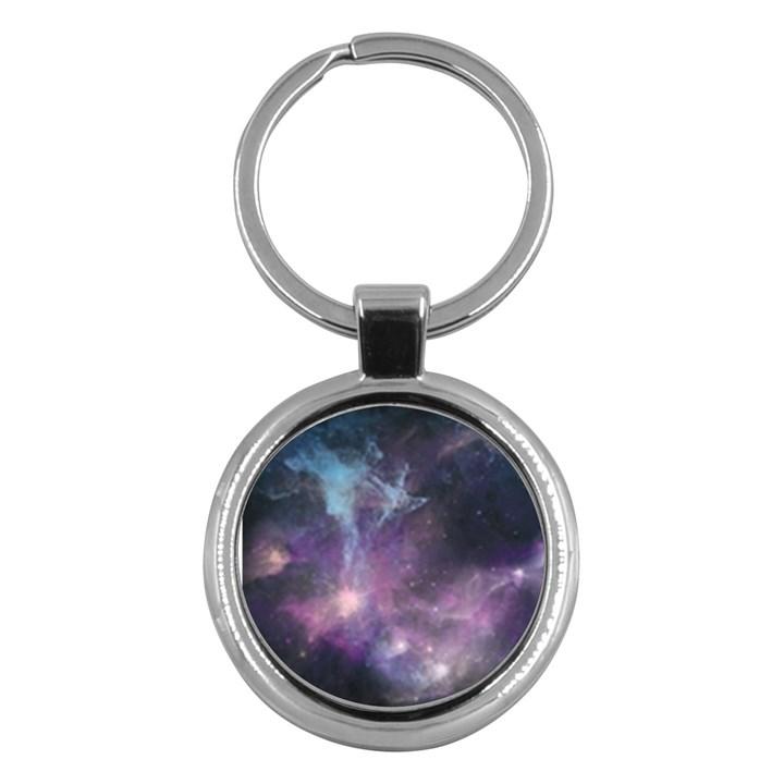 Blue Galaxy  Key Chains (Round)