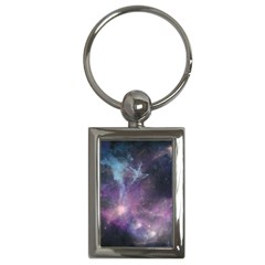 Blue Galaxy  Key Chains (rectangle)
