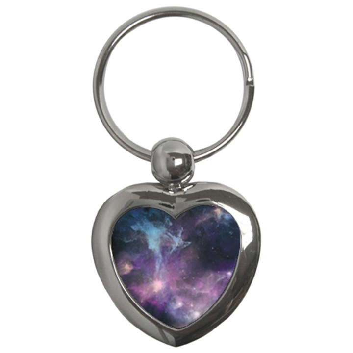 Blue Galaxy  Key Chains (Heart)