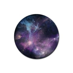 Blue Galaxy  Rubber Round Coaster (4 Pack)