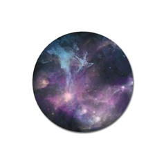 Blue Galaxy  Magnet 3  (round)