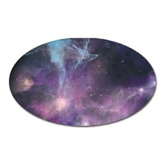Blue Galaxy  Oval Magnet
