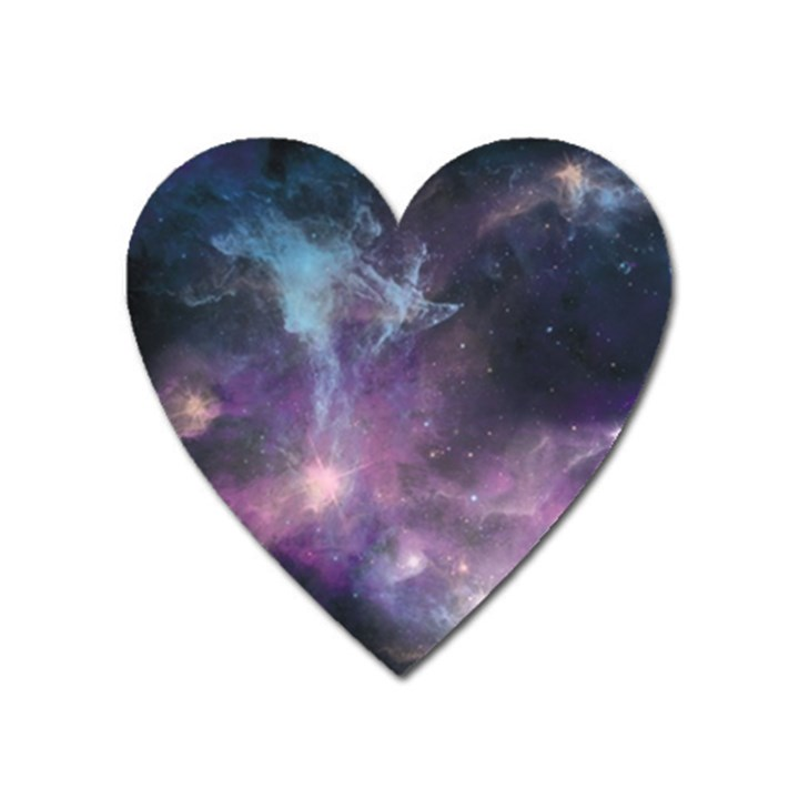 Blue Galaxy  Heart Magnet