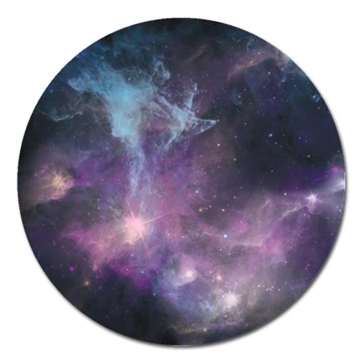 Blue Galaxy  Magnet 5  (Round)