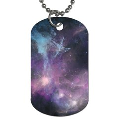 Blue Galaxy  Dog Tag (one Side)