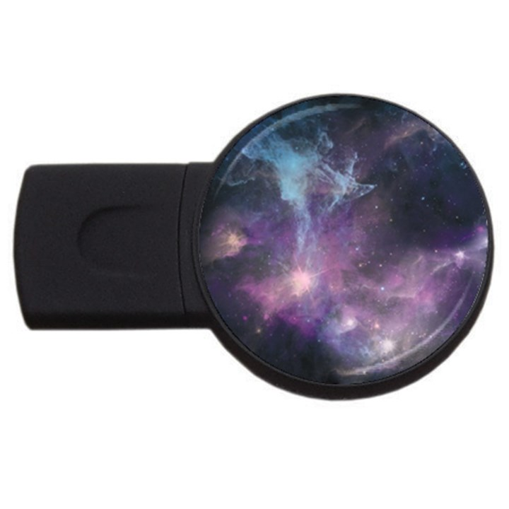 Blue Galaxy  USB Flash Drive Round (1 GB)