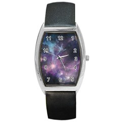 Blue Galaxy  Barrel Style Metal Watch