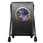 Blue Galaxy  Pen Holder Desk Clocks Front