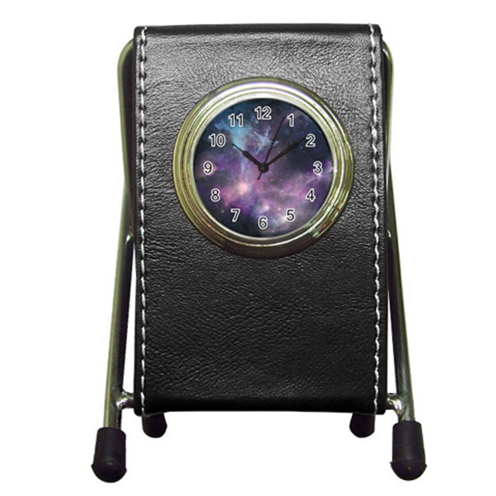 Blue Galaxy  Pen Holder Desk Clocks