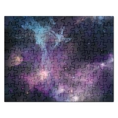 Blue Galaxy  Rectangular Jigsaw Puzzl