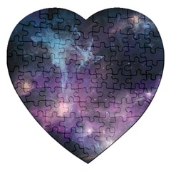 Blue Galaxy  Jigsaw Puzzle (heart)