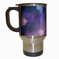 Blue Galaxy  Travel Mugs (White)
