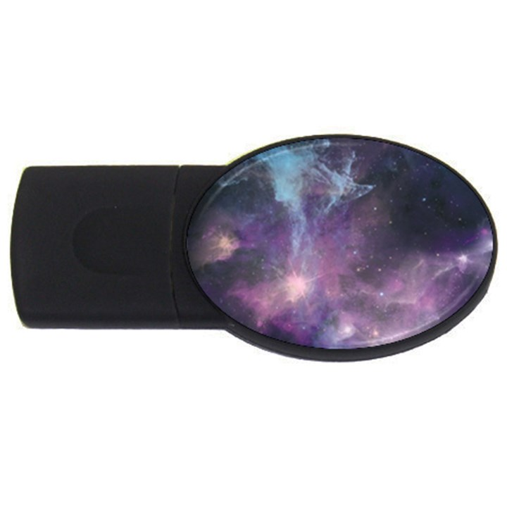 Blue Galaxy  USB Flash Drive Oval (4 GB)