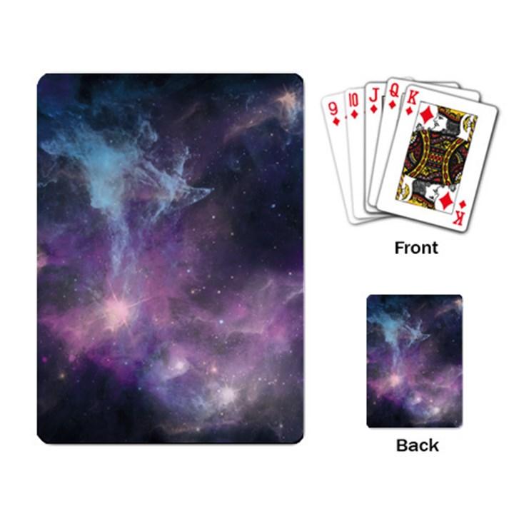 Blue Galaxy  Playing Card